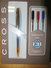 Cross Dubai Medalist Chrome with Gold Ballpoint Pen with 3 Extra refills