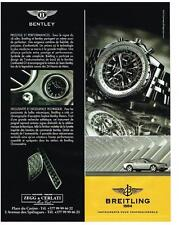 PUBLICITE  2004   BREITLING  montre collection BENTLEY