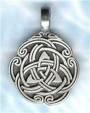 CELTIC TRIQUETRA TRINITY PENDANT BALL CHAIN NECKLACE