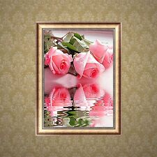 5D DIY Diamond Painting Butterfly Roses Embroidery Cross Stitch Craft Home Decor
