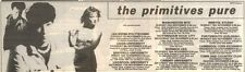 23/9/89Pgn47 Advert: The Primitives Live In Concert 'pure' November'89 3x11