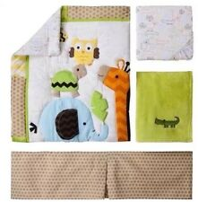 Circo Jungle Stack 4 Piece Nursery Crib Baby Bedding Set Giraffe Zoo Owl