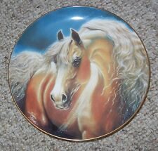 GOLDEN LIGHTS NOBLE AND FREE COLLECTION DANBURY MINT HORSE PLATE