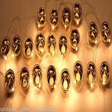 1 PCS GOLDEN DIYA LIGHT STRING- HOME DECORATION IN FESTIVAL- 22 DIYA PER STRING