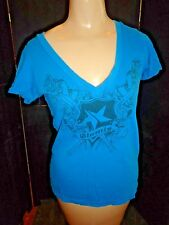 WOMENS TURQUOISE FOX RACING GRAPHIC T SHIRT. SIZE MED