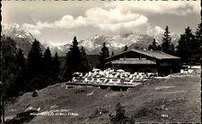Hochseefeld Tirol ~1950/60 Partie am Terrassen Restaurant Berge im Hintergrund