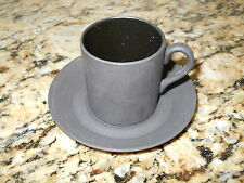 Wedgwood Basalt Black Demitasse cup and saucer