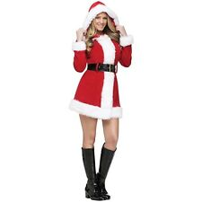 Mrs Claus Costume Santa Outfit for Women Adult Christmas Fancy Dress