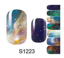 3D Nail Art Stickers Decals Decoration Full Wraps Transfers Design Form S1223
