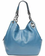 NWT! MICHAEL KORS Fulton Large Shoulder Tote Bag Leather Purse Sky $398