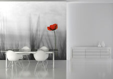 Large PHOTO WALLPAPER bedroom & living room WALL MURAL nature red poppy flower