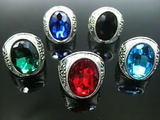 wholesale jewelry lots 5pcs Big stone silver plated Rings New free shipping J258