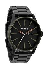 **BRAND NEW** NIXON WATCH SENTRY SS MATTE BLACK / INDUSTRIAL GREEN A3561530 NIB!
