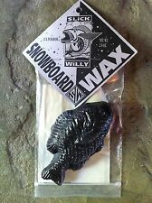 SLICK WILLY FISH SHAPED LUX DURABASE SNOWBOARD SKI WAX - COLD