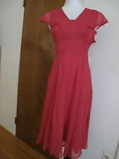 New w/tags Anthropologie HD in Paris Pink/Rose 100% Silk Dress Sz 4 Retail $228