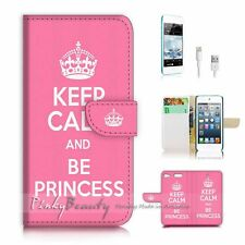 iPod Touch 6 iTouch 6 Flip Wallet Case Cover! P1449 Keep Calm Princess