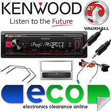 Vauxhall Corsa C KENWOOD Coche Radio Estéreo Reproductor MP3 Mechless aux Kit De Plata