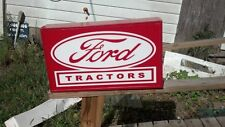 FORD TRACTORS LIGHTED ADVERTISEMENT SIGN 25X18 INCH