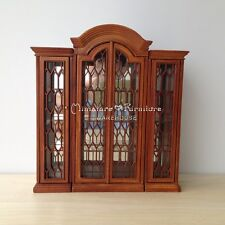 1:12 Dollhouse Miniature Furniture Normandy French China Display Cabinet Walnut