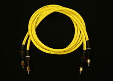 Van Damme Yellow Ultra 2 Metre Pair Interconnect Cables RCA To RCA (Phono)