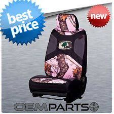 1X NEW MOSSY OAK UNIVERSAL SEAT COVER CAMOUFLAGE BUCKET TRUCK SUV CAR 2016 PINK