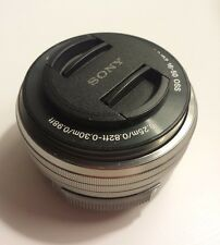 Sony E mount SELP1650 16-50mm F/3.5-5.6 PZ OSS Silver Lens READ LISTING