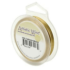 Artistic Wire Tarnish Resistant Brass 18 gauge 10 yds 41090 Round Shiny