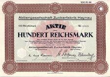 Zuckerfabrik Haynau  1928