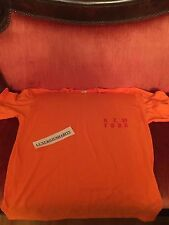 Size L TLOP Kanye West Yeezy Meadows Festival Merch T-shirt ORANGE NEW YORK EXCL