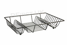 Metal Wire Dish Drainer Cutlery Plate Holder Rack Stand Kitchen Draining Sink