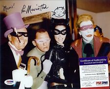 CatWoman Lee Meriwether autographed 8x10 photo PSA DNA with Villains Joker