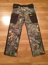 KIDS UNDER ARMOUR SCENT CONTROL CAMO PANTS YOUTH XL NEW REALTREE CAMOUFLAGE