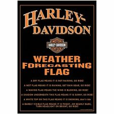 "NEW HARLEY DAVIDSON MOTORCYCLE SMALL GARDEN FLAG 12.5"" X 18"" FORECAST WEATHER"