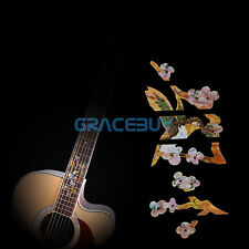 Flower Guitar Inlay Sticker Fretboard Markers Fret Decals for Bass Pearl Yellow