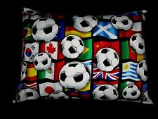 INTERNATIONAL FLAGS/SOCCER TRAVEL/ACCENT/LUMBAR/CHILD PILLOW COVER