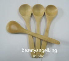 10pcs Natural Bamboo Mini Small Spoon Scoop for Salt Sugar Cooking Cutlery