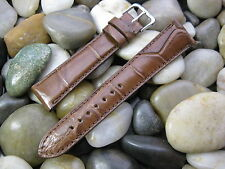 20 mm Tan Brown Genuine Alligator Watch Band strap! Made in the USA - Gorgeous!