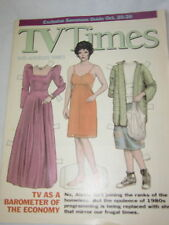 VINTAGE TV TIMES MAGAZINE OCT 20-26 1991 JOAN COLLINS PAPER DOLL & CLOTHES COVER