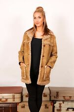 70s vintage faux sheepskin shearling coat by Fingerhut Fashions 12/14