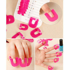 10 Sizes 26pcs French Nail Art Polish Stencil Manicure Finger Protector Care DIY