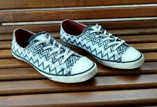 converse missoni womens sz 8 grey white zig zag chevron