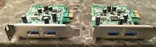 DELL ADAPTER LOT OF 2  2 PORT USB 3.0 HUB PCI-E x1 EXPANSION CARD FWGJ8