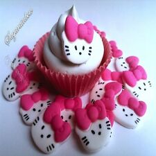 18 Edible sugar kitty heads cake cupcake toppers decorations kids birthday party