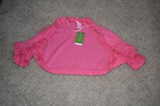 Lilly Pulitzer Hotty Pink Phoebe Ruffle Shrug Sweater Size M/L NEW