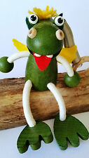 HANDMADE WOODEN BOUNCY PUPPET DRAGON DINOSAUR SPRINGY DECORATION TOY MOBILE