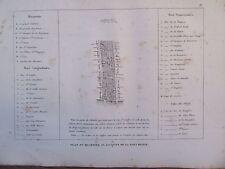 GRAVURE 1839 PARIS PLAN DU QUARTIER SAINT JACQUES DE LA BOUCHERIE