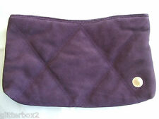 FRENCH CONNECTION QUILTED PURPLE SUEDE LEATHER CLUTCH BAG