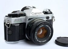Canon AE-1 Program Camera Outfit with FD 50mm f1.8 Lens Near Mint