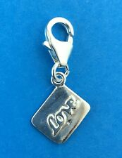 925 Sterling Silver Love Letter Clip on Charm