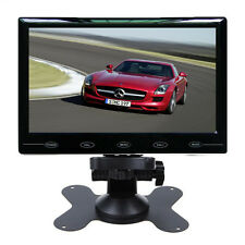 """HD 7"""" Inch 800*480 TFT LCD Color 2-CH Input Car Rear View Monitor Ultra Thin"""